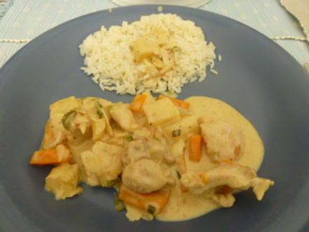 Hähnchen-Ananas-Curry mit Kokosmilch - Rezept