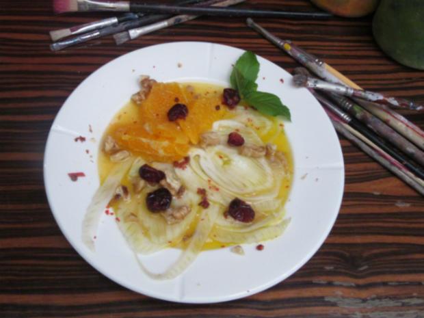 Fenchelcarpaccio mit Orangen - Rezept