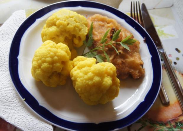 Wiener Schnitzel vom Schwein mit Curry-Blumenkohl - Rezept - Bild Nr. 263