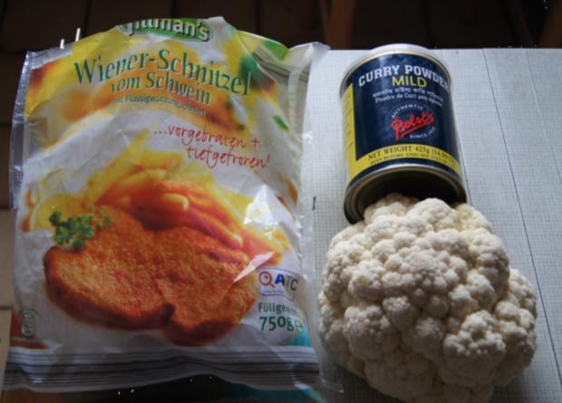 Wiener Schnitzel vom Schwein mit Curry-Blumenkohl - Rezept - Bild Nr. 264