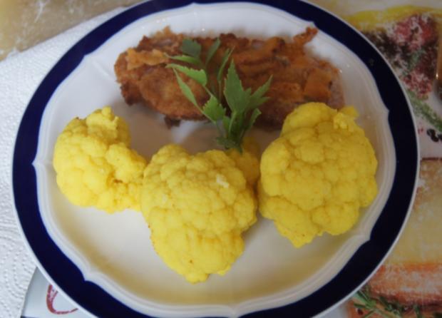 Wiener Schnitzel vom Schwein mit Curry-Blumenkohl - Rezept - Bild Nr. 271