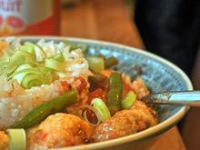 Hähnchenbrust, grüne Bohnen, Tomaten - Rezept