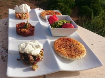 Tatarvariationen mit Algensalat - Rezept