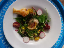 Lachsmousse auf buntem Blattsalat - Rezept