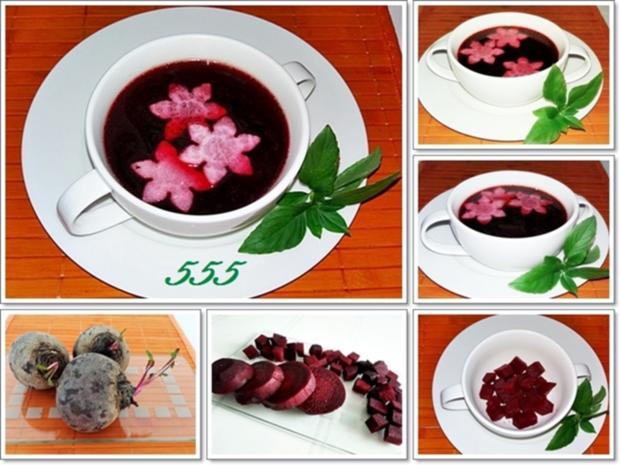 Pikante Rote-Bete-Suppe auf Rindfleischbrühe - Rezept - Bild Nr. 304