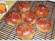 Hamburger Buns mit Sesam selber backen - Rezept - Bild Nr. 296