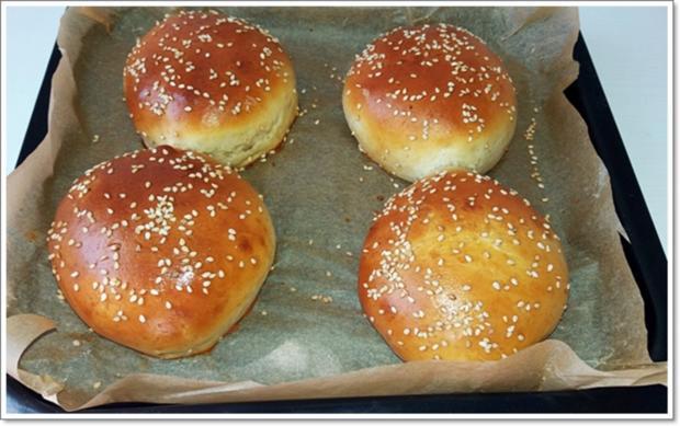 Hamburger Buns mit Sesam selber backen - Rezept - Bild Nr. 311