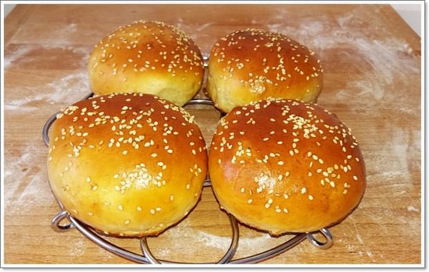 Hamburger Buns mit Sesam selber backen - Rezept - Bild Nr. 312