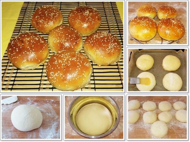 Hamburger Buns mit Sesam selber backen - Rezept - Bild Nr. 314