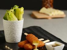 Kroketten mit Brie und Kartoffelflocken, gewürzt mit Garrigue-Honig - Rezept - Bild Nr. 299