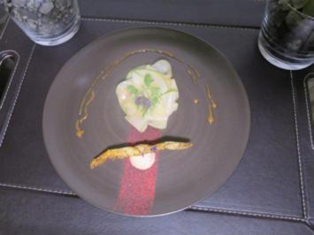Rezept: Gänseleber-Eis / Apfel-Carpaccio / Espresso-Kondensmilch