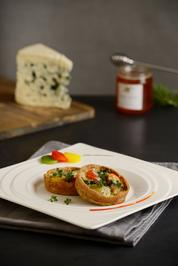 Quiche mit Roquefort und confiertem Gemüse mit Ras el Hanout und Heidekrauthonig   - Rezept - Bild Nr. 298