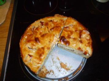 Apfelkuchen mit Vanille - Marzipanguß - Rezept - Bild Nr. 322