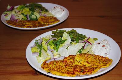 Rezept: Kürbis-Zucchini-Taler