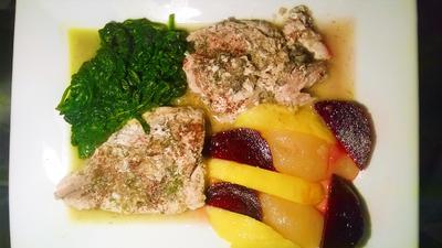 Felchenfilet an Noilly Prat-Sauce mit Spinat, Rote Bete und Früchten (Herbstvariante) - Rezept - Bild Nr. 328