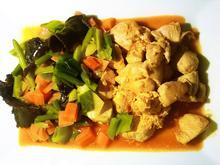 Chinapfanne: Hähnchenbrust-Stücke mit Gemüsebouquet und Ingwer - Rezept - Bild Nr. 328