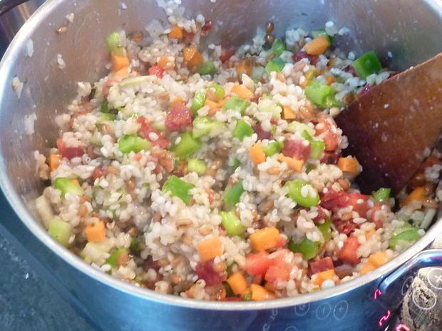Getreide Risotto mit Gemüse - Rezept - Bild Nr. 363