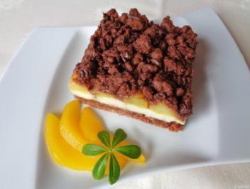 Weißer Schokoladenpudding, Safranbirnen, Kakaostreusel und Schokolade ... - Rezept - Bild Nr. 357