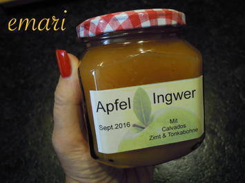 Marmelade:  Apfel / Ingwer mit Calvados - Rezept - Bild Nr. 1049