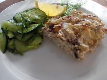 Fischfilet mit Knusperkruste und Gurkensalat - Rezept - Bild Nr. 364