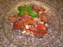 Tomatensalat mit Morzarella - Rezept
