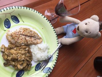 Hähnchenbrust an braunen Champignons - Rezept - Bild Nr. 542