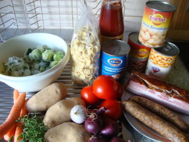 Bohnen-Gemüsetopf mit deftiger Einlage - Rezept - Bild Nr. 563