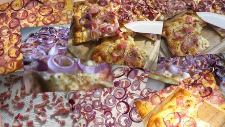 Flammkuchen mit Speck und Zwiebeln - Rezept - Bild Nr. 563