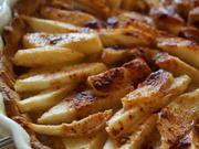 Französische Birnen-Tarte oder -Galette; fruchtiger Kuchen - Rezept