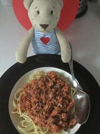 Frühstücksfleisch mit Tomatenmark an Spaghetti - Rezept - Bild Nr. 602