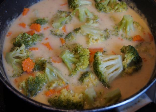 Brägenwurst mit Möhren-Brokkoli-Gemüse und Kartoffelpilzen - Rezept - Bild Nr. 611