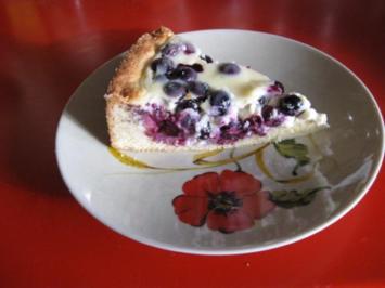 Rezept: Heidelbeernkuchen mit sauer Sahne Guss