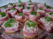 Foxys Snackbar: Salamiröllchen auf Crackern - Rezept - Bild Nr. 658