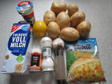 Lachs-/Spinat-Auflauf überbacken mit Kartoffelpü und Käse - Rezept - Bild Nr. 665