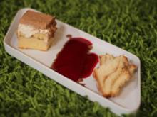 Bananen-Schoko-Torte und schwäbischer Nußzopf an einem Fruchtspiegel - Rezept - Bild Nr. 681