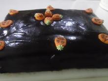 Kürbis-Kuchen mit Schokohaube - Rezept