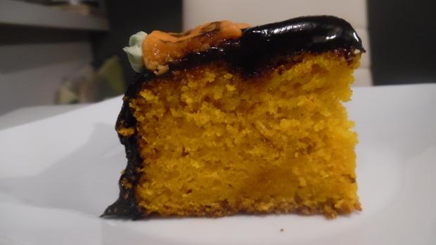 Kürbis-Kuchen mit Schokohaube - Rezept - Bild Nr. 2
