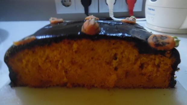 Kürbis-Kuchen mit Schokohaube - Rezept - Bild Nr. 3