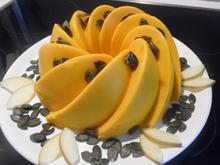 Kürbis-Apfel-Frischkäse-Pudding mit Zimt-Joghurt-Soße - Rezept - Bild Nr. 686
