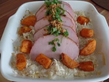 Rezept: Kasseler mit Süßkartoffeln