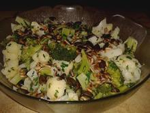 Lauwarmer Blumenkohl-Brokkoli-Salat - Rezept