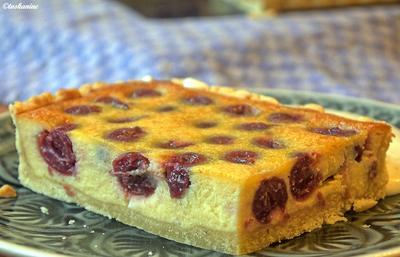 Rezept: Kirsch-Marzipan-Tarte