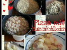 Spargel -Schinken Pizza mit Blumenkohlboden - Rezept - Bild Nr. 764