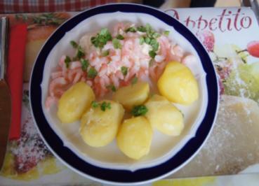 Pellkartoffeln mit Curry-Paprika-Quark und Eismeer-Garnelen - Rezept - Bild Nr. 759