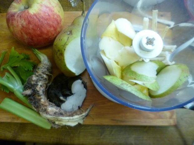Gemischter Meerrettich mit Apfel, Birne, Sellerie, Schwarzem Rettich - Rezept - Bild Nr. 2