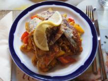 Zanderfilets auf Gemüsebett mit Curryreis - Rezept - Bild Nr. 791