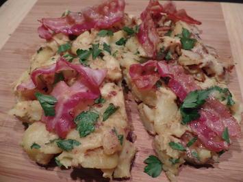 Rezept: Kartoffel-Omelett mit Speck (Pillekuchen )