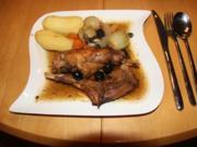 Kaninchen mit Weißwein-Balsamico und Oliven - Rezept - Bild Nr. 836