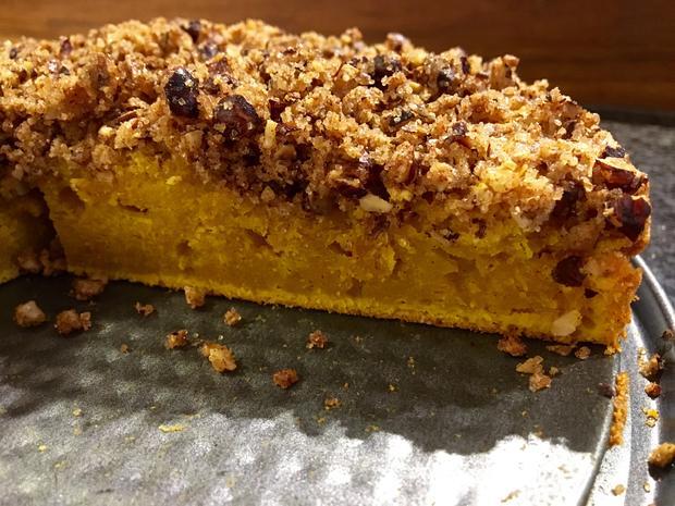 Kürbis Pie - Saftiger Kuchen mit Nuss-Streuseln ♥ - Rezept - Bild Nr. 893
