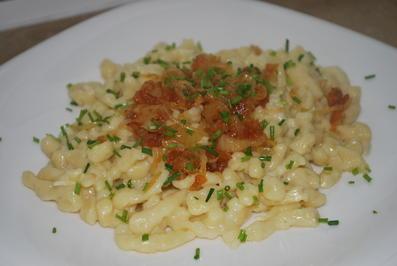 Annis Käsespätzle mit Röstzwiebeln - Rezept
